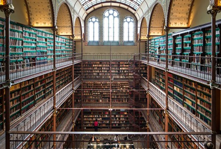 The Rijksmuseum library has the largest art history collection in the Netherlands